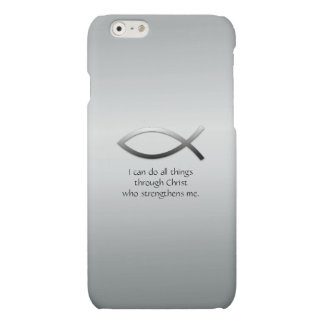 Christian Jesus Fish With Your Custom Bible Verse Matte iPhone 6 Case