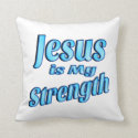 Christian Jesus Is My Strength Throw Pillow