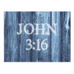 Christian John 3:16 Bible Verse Postcard