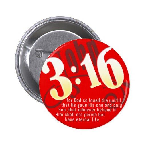 Christian - John 3:16 Pinback Button