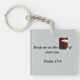 Christian Keychains, Square Single-Sided Square Acrylic Keychain