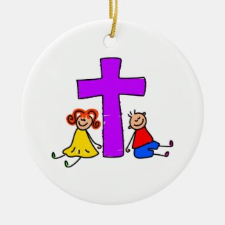 Christian Kids Ceramic Ornament