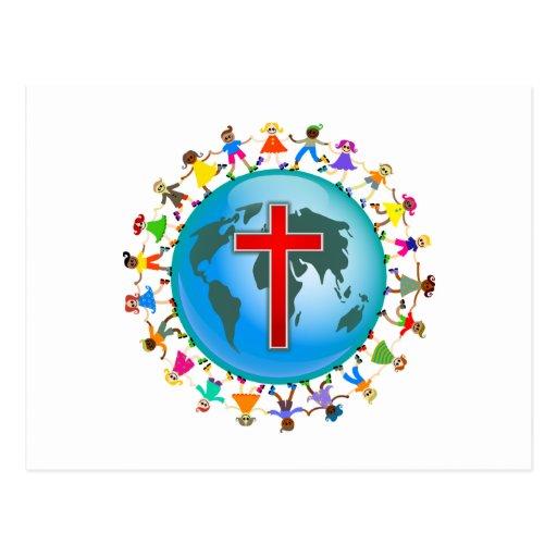 Christian Kids Postcard