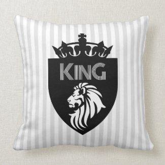 King of Kings Lion Throw Pillow
