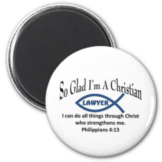Christian Lawyer 2 Inch Round Magnet