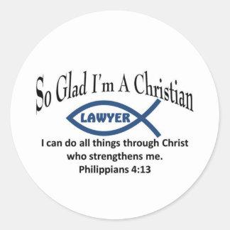 Christian Lawyer Classic Round Sticker