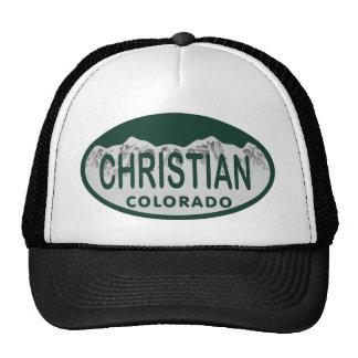 Christian license oval trucker hats