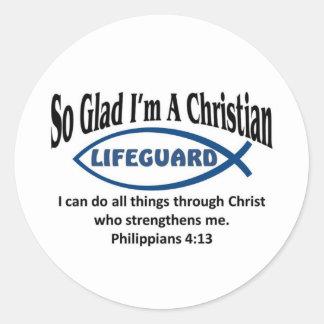 Christian Lifeguard Classic Round Sticker