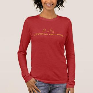 Christian long t-shirt: Wireless Access (prayer) Long Sleeve T-Shirt