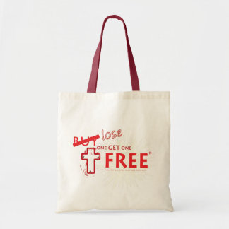 Christian 'Lose One Get One Free' cloth tote bag