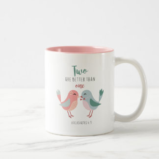 Christian Love Birds Two are better than one MUG