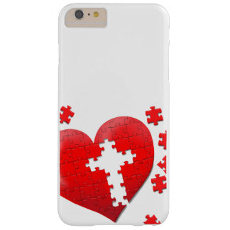 Christian love heart jigsaw puzzle barely there iPhone 6 plus case