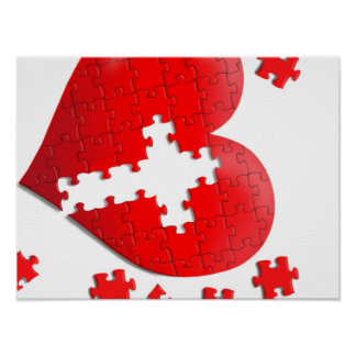 Christian love heart jigsaw puzzle poster