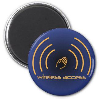 Christian magnet: Wireless Access (prayer) 2 Inch Round Magnet