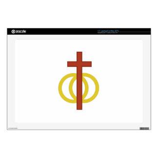 "Christian Marriage Symbol 17"" Laptop Skin"