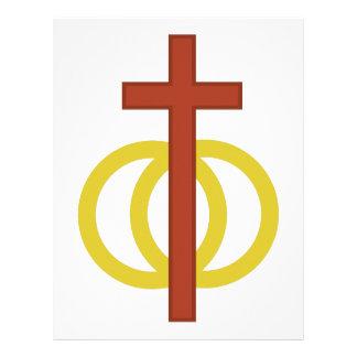 Christian Marriage Symbol Letterhead