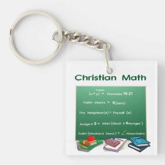 Christian Math Keychain