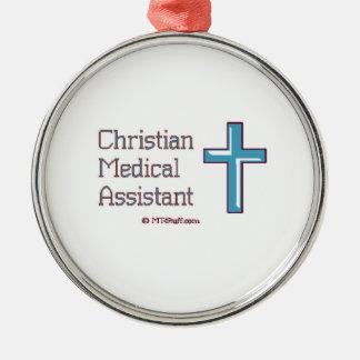 Christian Medical Assistant Cross Metal Ornament