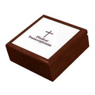 Christian Medical Transcriptionist - Cross 2 Gift Box