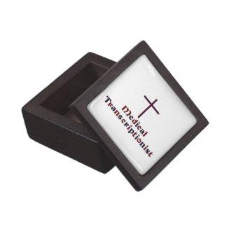 Christian Medical Transcriptionist - Cross 2 Jewelry Box