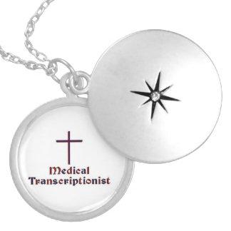 Christian Medical Transcriptionist - Cross 2 Round Locket Necklace