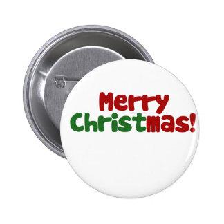Christian Merry Christmas Pinback Buttons