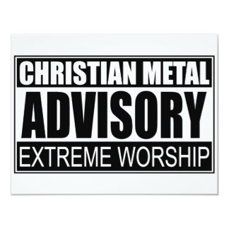 Christian Metal Advisory... Card
