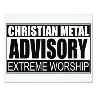 "Christian Metal Advisory... 4.25"" X 5.5"" Invitation Card"