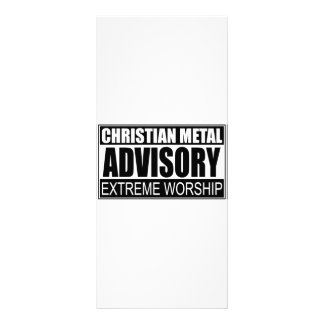 Christian Metal Advisory... Rack Cards