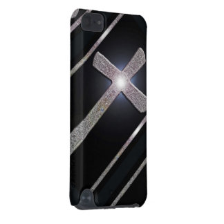 Christian metal shining cross cell phone cover iPod touch 5G cases
