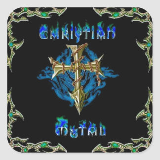 Christian Metal Square Sticker