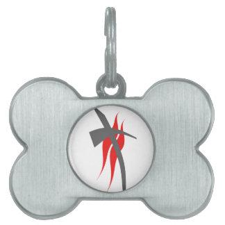 Christian / Methodist cross 2 Pet ID Tag