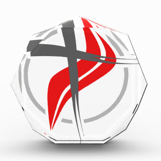 Christian / Methodist cross Acrylic Award