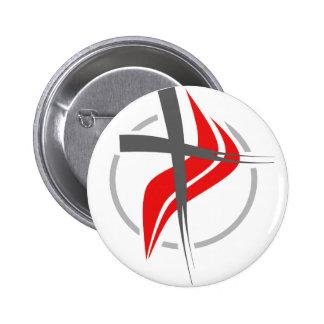 Christian / Methodist cross 2 Inch Round Button