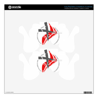 Christian / Methodist cross Skins For PS3 Controllers