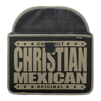 CHRISTIAN MEXICAN - God Loves Brave Mayan Warriors MacBook Pro Sleeve
