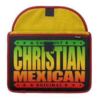 CHRISTIAN MEXICAN - God Loves Brave Mayan Warriors MacBook Pro Sleeves