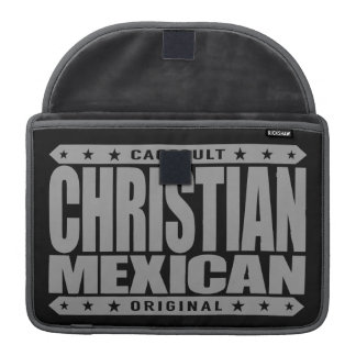 CHRISTIAN MEXICAN - God Loves Brave Mayan Warriors Sleeve For MacBook Pro