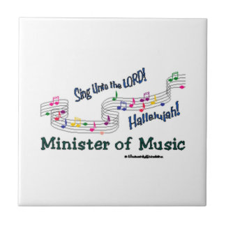 Christian Minister of Music Colorful Notes Ceramic Tile