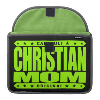 CHRISTIAN MOM - God's Faithful Domestic Warrior MacBook Pro Sleeve