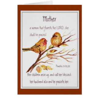 Christian Mother's Day Scripture Watercolor Card