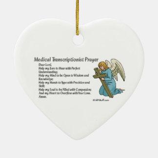 Christian MT Prayer Double-Sided Heart Ceramic Christmas Ornament