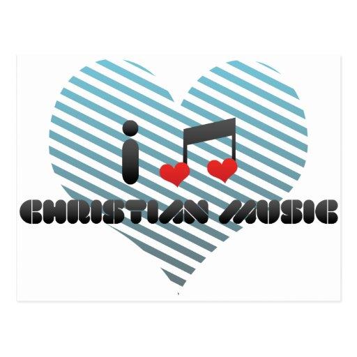 Christian Music fan Postcard