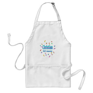 Christian Music Lover Adult Apron