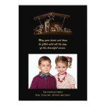 Christian Nativity Christmas Photo Flat Card Invitation