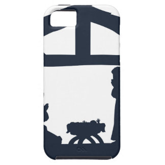 Christian Nativity Christmas Scene Silhouettes iPhone 5 Covers