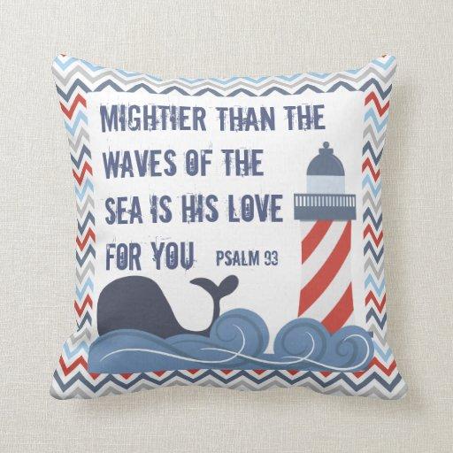 Christian Nautical Boy's Pillow Bendel Designs