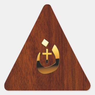 Christian Nazarene and Cross Solidarity Triangle Sticker