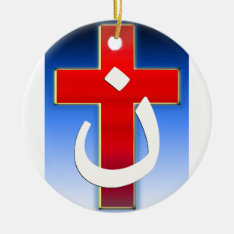 Christian Nazarene Cross #1 Ceramic Ornament at Zazzle