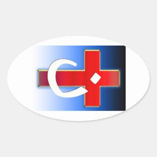 Christian Nazarene Cross #1 Oval Sticker